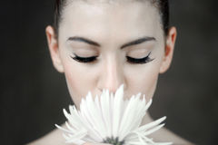Clean Beauty Image of a Caucasian Woman Royalty Free Stock Images