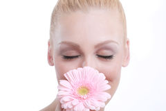 Clean Beauty Image of a Caucasian Woman Stock Images