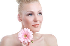 Clean Beauty Image of a Caucasian Woman Royalty Free Stock Photos