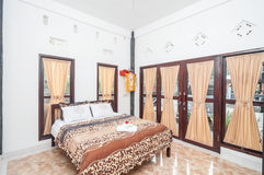 Clean bedroom Villa minimalist design Stock Photo