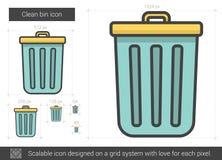 Clean bin line icon. Stock Image