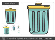 Clean bin line icon. Stock Photography
