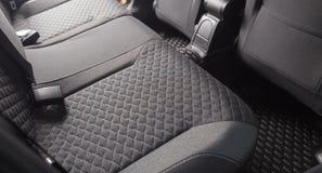 Clean black car seats. Modern car inside. Car interior after professional washing royalty free stock photos