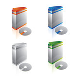 Clean blank boxes and CD Royalty Free Stock Photo