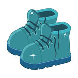 Clean blue boots Stock Image