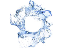 Clean blue circular water swirl Royalty Free Stock Images