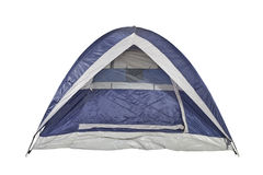 Clean Blue Tent Stock Photo