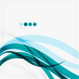 Clean blue wave lines on white Royalty Free Stock Image
