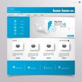 Clean blue website design template Stock Photos