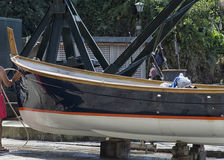 Clean the boat. Before the start of season Stock Images