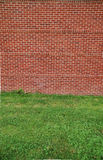 Clean brick wall. A new brick wall with 11 rows of horizontal bricks, and then 1 row of vertical. There's three vertical rows Royalty Free Stock Image