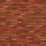 Clean brickwall. Background that tiles seamless in all directions royalty free illustration