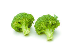 Clean Broccoli Isolated On White Royalty Free Stock Photos