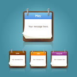 Clean calendar template, note pad design. Royalty Free Stock Photo