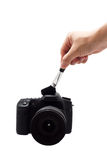 Clean the Camera Royalty Free Stock Photos