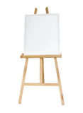 Clean canvas or board on a easel Royalty Free Stock Photo