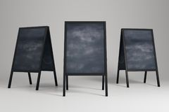 Clean chalk menu boards Royalty Free Stock Image