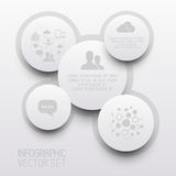 Clean Circle Infographic Elements Royalty Free Stock Photography