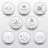 Clean Circle Infographic Elements Royalty Free Stock Photos