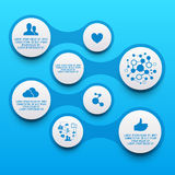 Clean Circle Infographic Elements Stock Photos