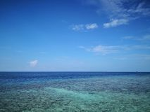 Clean and clear seascape stock photography