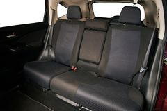 Clean cloth rear car seats. Of SUV  isolated royalty free stock photography