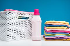 Clean Clothes Softened After Laundry Stock Photo