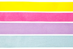 Clean collection of ribbons isolated Stock Photography