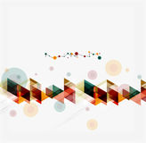 Clean colorful unusual geometric pattern design Stock Photo