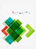 Clean colorful unusual geometric pattern design Royalty Free Stock Images