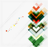 Clean colorful unusual geometric pattern design Royalty Free Stock Image