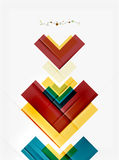 Clean colorful unusual geometric pattern design Royalty Free Stock Photography