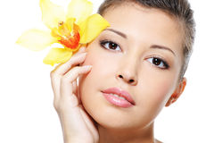 Clean complexion of a beauty asian female face Royalty Free Stock Photo