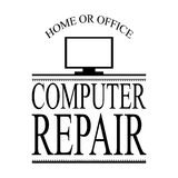 Clean computer repair icon and business design vector Royalty Free Stock Photos