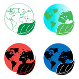 Clean and contaminated land. Ecological situation in the earth. Royalty Free Stock Photos