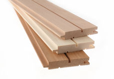 Clean cut skirting board Stock Photo