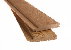 Clean cut skirting board Stock Images