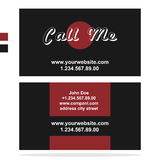 Clean dark business card vector. Clean business card. Template in dark style Royalty Free Stock Images