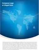 clean design för blå broschyr stock illustrationer