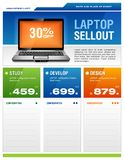 Clean Design Of Laptop Sale Flyer Stock Photo