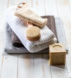 Clean design still life for body and environment respect Royalty Free Stock Photos