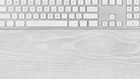 Clean desktop with computer keyboard Stock Photo