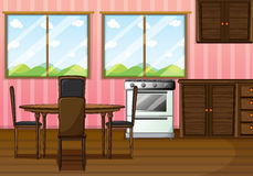 A clean dining room. Illustration of a clean dining room Royalty Free Stock Images