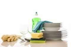Clean dishes Stock Image