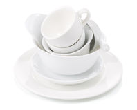 Clean dishes and cups Royalty Free Stock Images