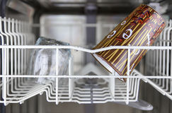 Clean dishes in the dishwasher Stock Image