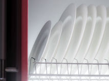 Clean dishes drying Stock Photos