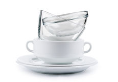 Clean dishes Royalty Free Stock Images