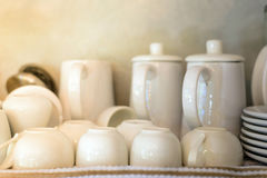 Clean Dishes tea cup set Royalty Free Stock Photo