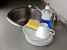 Clean dishware Stock Image